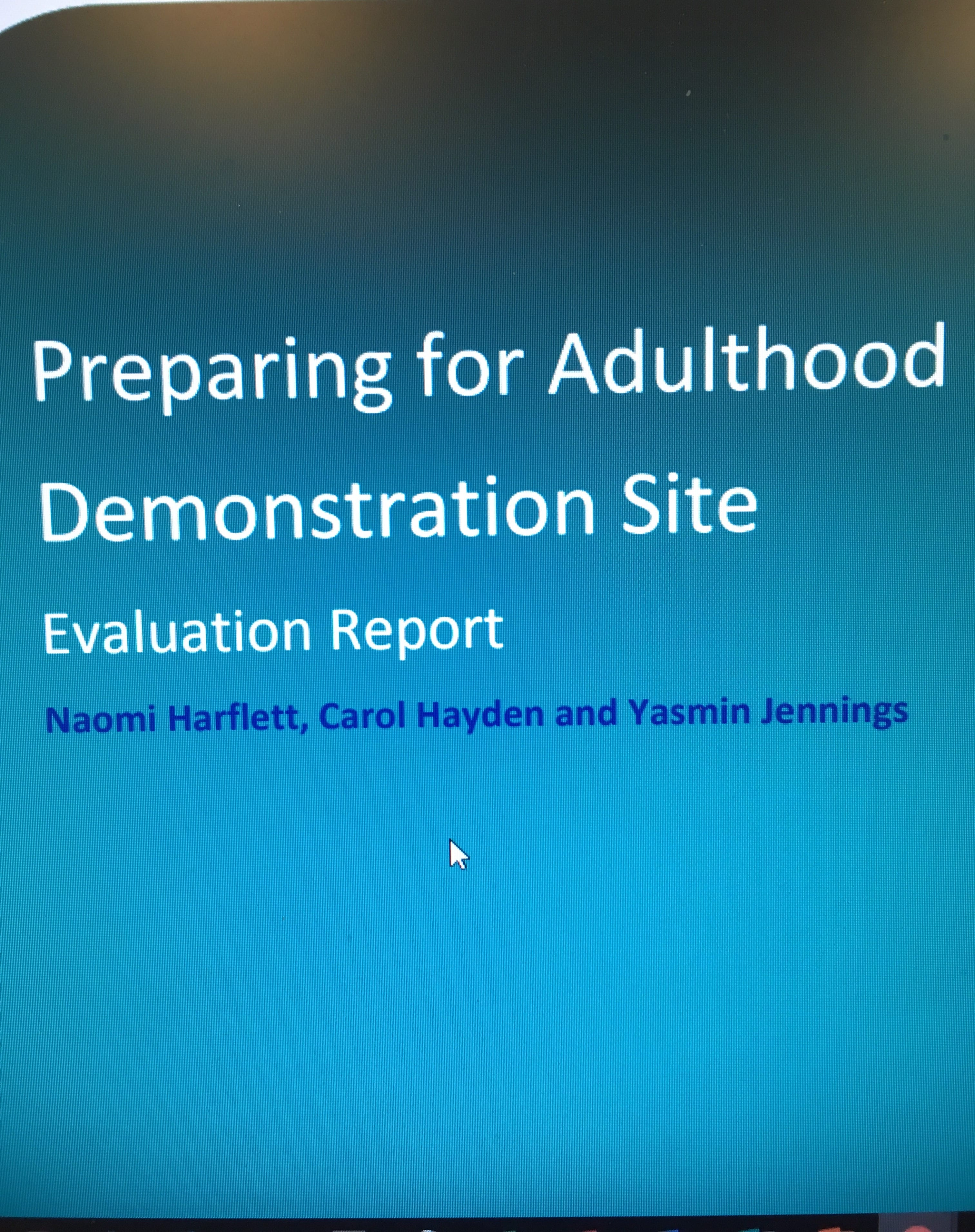Preparing for Adulthood (PfA) – Demonstration Sites Evaluation Report