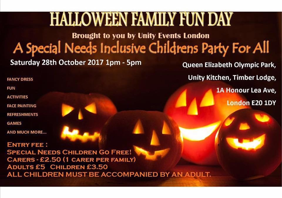 Halloween Family Fun Day – A special needs inclusive children's party for all