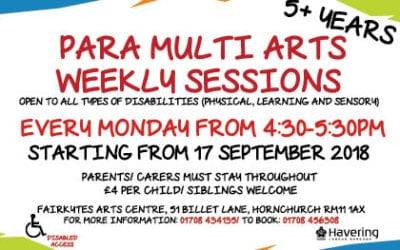 Para Multi Arts Weekly Sessions