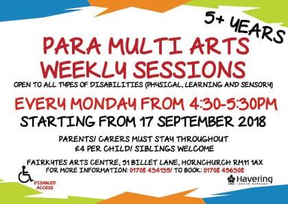 Para Multi Arts Weekly Sessions