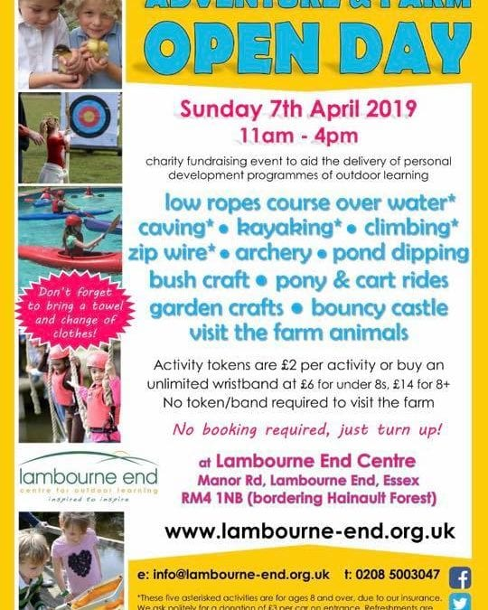 Adventure & Farm Open Day – Lambourne End