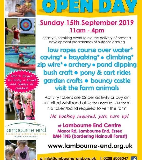 Adventure & Farm Open Day – Lambourne End